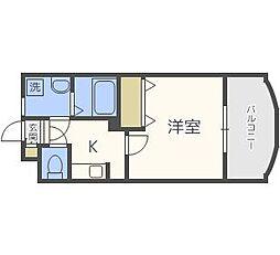 サムティ姪浜[6階]の間取り