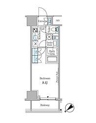 ルビア赤坂 3階1Kの間取り