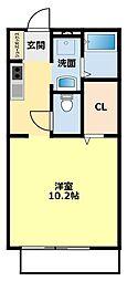 オラシオン駒場[201号室]の間取り