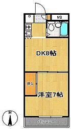 レジデンス花京院[2階]の間取り