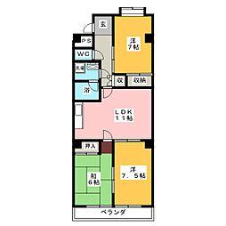 東柴ビル第3[3階]の間取り