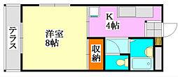 コーポ川島第五[101号室]の間取り