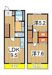 [テラスハウス] 千葉県流山市南 の賃貸【/】の間取り