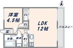 OMレジデンス八戸ノ里[4階]の間取り