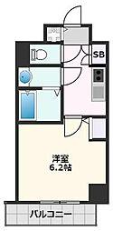 S-RESIDENCE江坂 Crescent 4階1Kの間取り