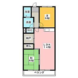 エスパシオンビル[4階]の間取り