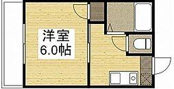 サンロイヤル豊成[1階]の間取り