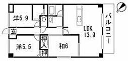 ルネス祇園[3階]の間取り