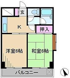 パークサイド横山[2階]の間取り