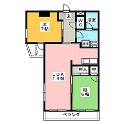 RUMINASU OKUDA[2階]の間取り