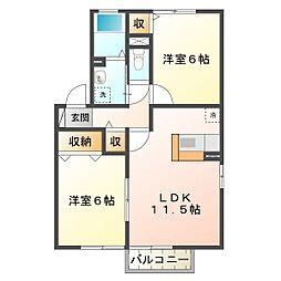Casa Wakamatsu B棟[2階]の間取り