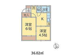 千葉県松戸市西馬橋の賃貸アパートの間取り