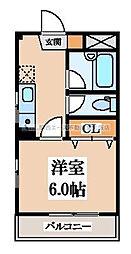 パルテ・カワサキ[2階]の間取り
