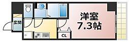 Osaka Metro千日前線 新深江駅 徒歩2分の賃貸マンション 10階1Kの間取り