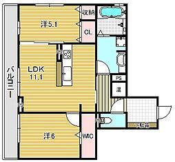仮)D-room安満西の町[203号室]の間取り
