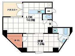 創空KYUTARO[11階]の間取り