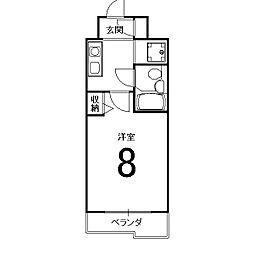 パラドール西院PART-I[5階]の間取り