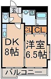 東京都多摩市連光寺3丁目の賃貸マンションの間取り