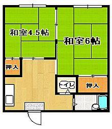 コーポNB I西津田[202号室]の間取り
