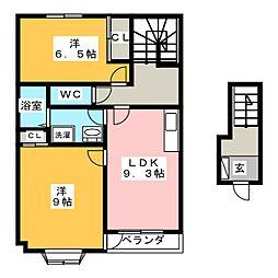 グランバードII[2階]の間取り
