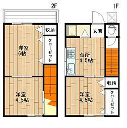 広島県呉市広本町3丁目の賃貸アパートの間取り