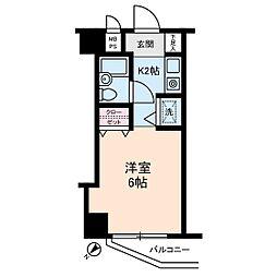 ライオンズマンション仲六郷[4階]の間取り