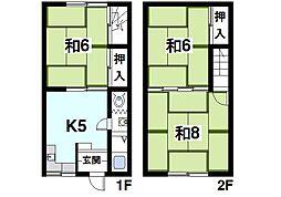 福岡貸家 1階3Kの間取り