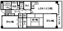 レジデンス岸和田[207号室]の間取り