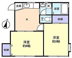 コーポKOHAKU[1階]の間取り