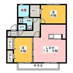 ラ・ルーチェ香久山[1階]の間取り