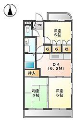 ラ・メゾン・ファミ−ユ[1階]の間取り