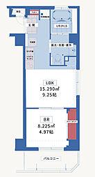 JR横須賀線 衣笠駅 バス7分 武山下車 徒歩1分の賃貸マンション 3階1LDKの間取り