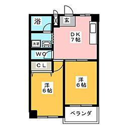 レヂデンス鈴木 A[1階]の間取り