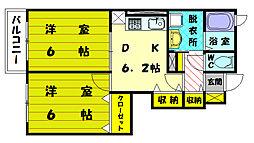 カルムヴィラ3[2階]の間取り