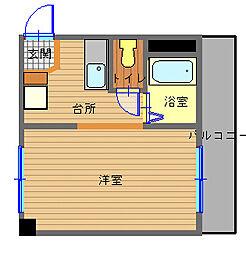 長崎県長崎市籠町の賃貸マンションの間取り
