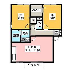 メゾンプレジールA[2階]の間取り