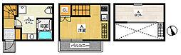 愛知県名古屋市南区鳥栖1の賃貸アパートの間取り