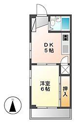 クレストYS千代田[6階]の間取り