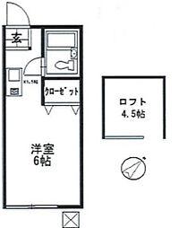 神奈川県川崎市麻生区千代ケ丘2の賃貸アパートの間取り