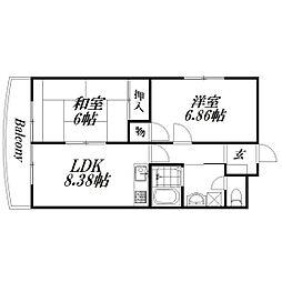 静岡県浜松市中区和地山1の賃貸マンションの間取り