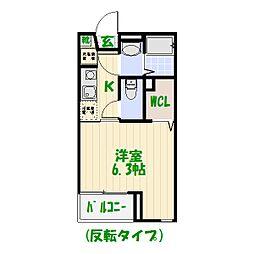 カサス鎌倉[0103号室]の間取り