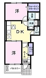 ピアボヌールIII[1階]の間取り