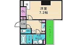 Luxe本町 9階1Kの間取り