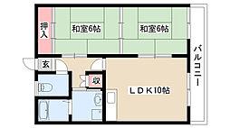 愛知県名古屋市守山区元郷2丁目の賃貸マンションの間取り