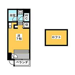ボタニカルコート[1階]の間取り