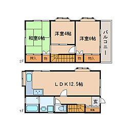 [一戸建] 静岡県静岡市駿河区下島 の賃貸【/】の間取り