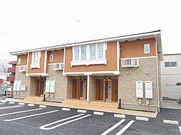 栃木県真岡市並木町2丁目の賃貸アパートの外観
