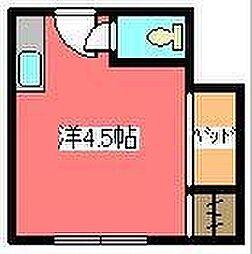 JR京浜東北・根岸線 川口駅 徒歩18分の賃貸マンション 3階ワンルームの間取り