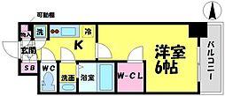 エスリード京橋グランツ[5階]の間取り