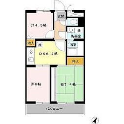 パストラルガーデン 壱番館/弐番館[3階]の間取り